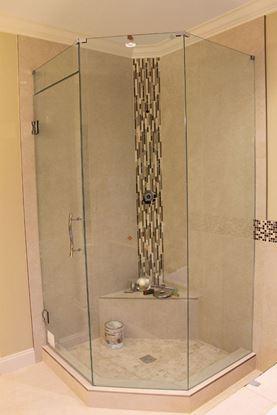 10mm Frameless Neo Angle Shower Door