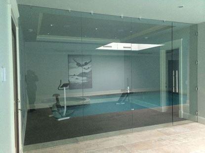12mm Frameless Gym Door
