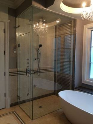 10mm Frameless Shower Door up to Ceiling