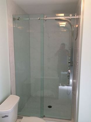 10mm Frameless Shower Slider with Roller on Top