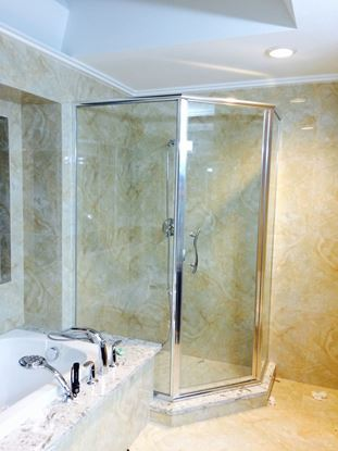 10mm Framed Neo Angle Shower Door