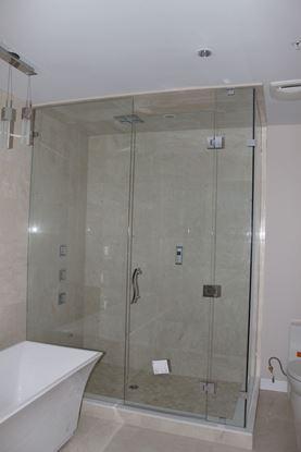 10mm Frameless Inline Return Shower door