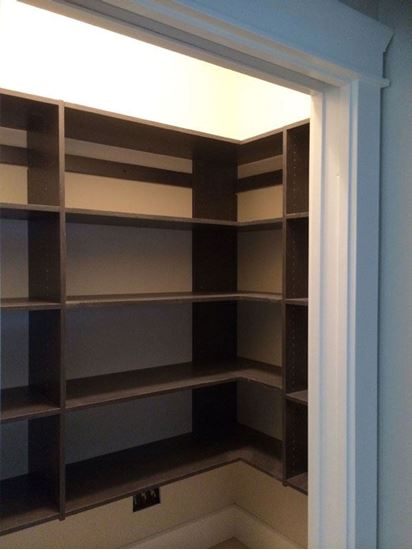 Pantry Wood Closet, Chocolate Color
