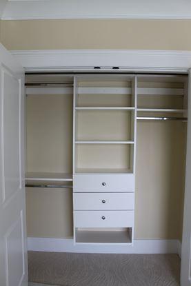 White Wood Closet Organizer