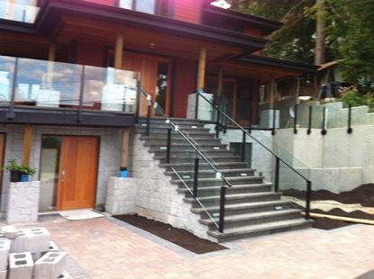 12mm Glass Railing with Black Posts