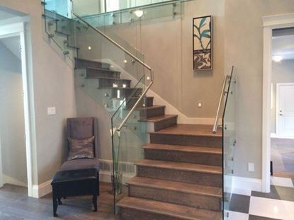 12mm Glass Railing with Stands-Off and Handrail Inside