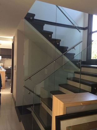 12mm Glass Railing with Stand Off and Handrail