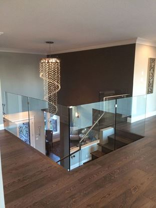 12mm Glass Railing with Stands-Off with Handrail